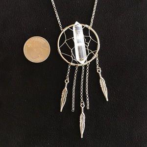 Silverskylight Jewelry - Genuine double point crystal quartz dream catcher